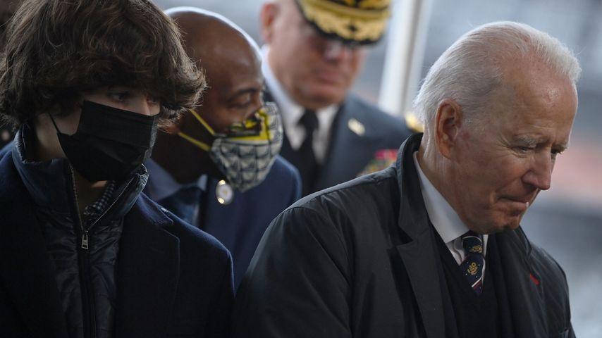 Hunter Biden und Joe Biden im Veterans Memorial Park am 30. Mai 2021
