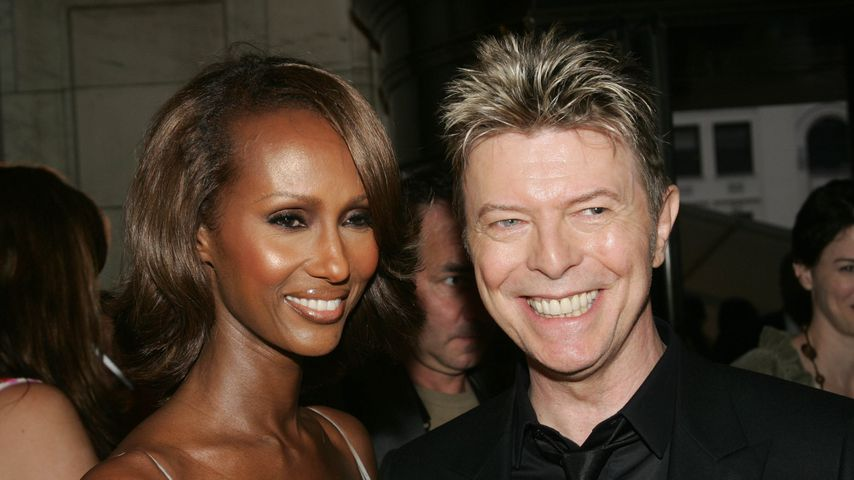 Iman Abdulmajid und David Bowie bei den CFDA Awards