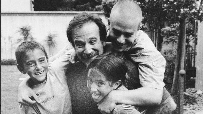 Robin Williams mit seiner Familie