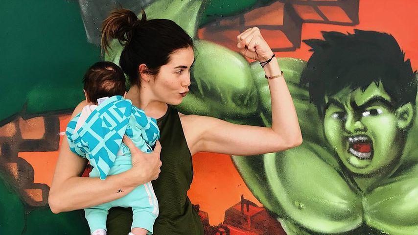 Ira Meindl und ihr Töchterchen Emilia auf Instagram