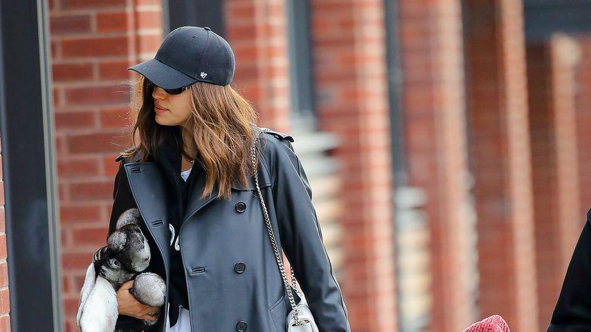 Irina Shayk mit ihrer Tochter Lea in New York im Januar 2020