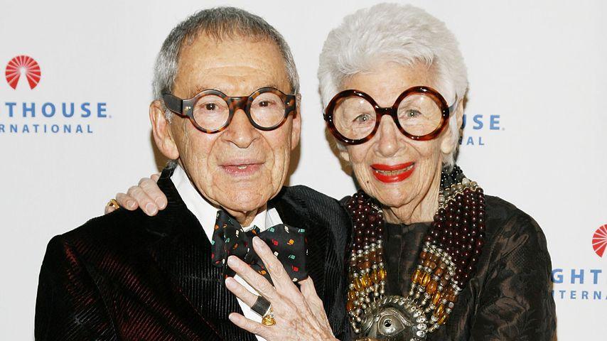 Iris Apfel mit ihrem Ehemann Carl im Oktober 2008