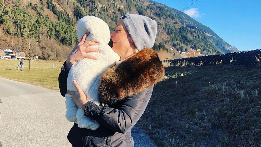 Iris Aschenbrenner mit ihrem Sohn Maximus