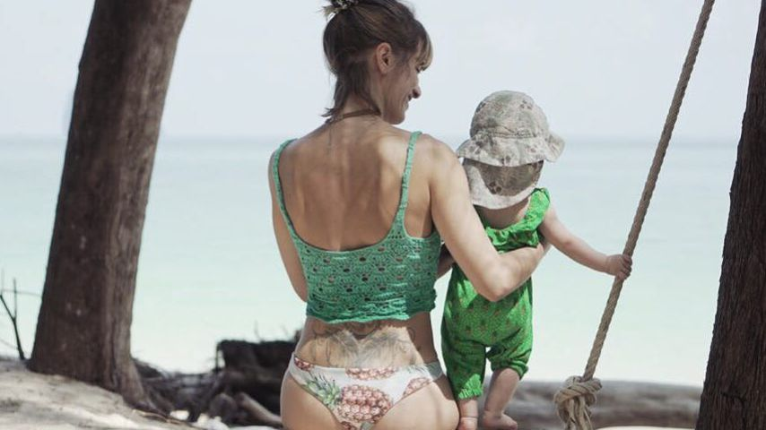 Schauspielerin Isabell Horn mit Tochter Ella