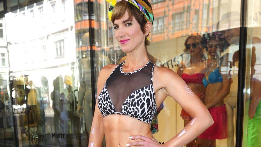 Isabell Horn als McFit-Model in Berlin