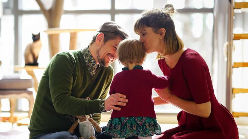 Jens Ackermann und Isabell Horn mit Tochter Ella