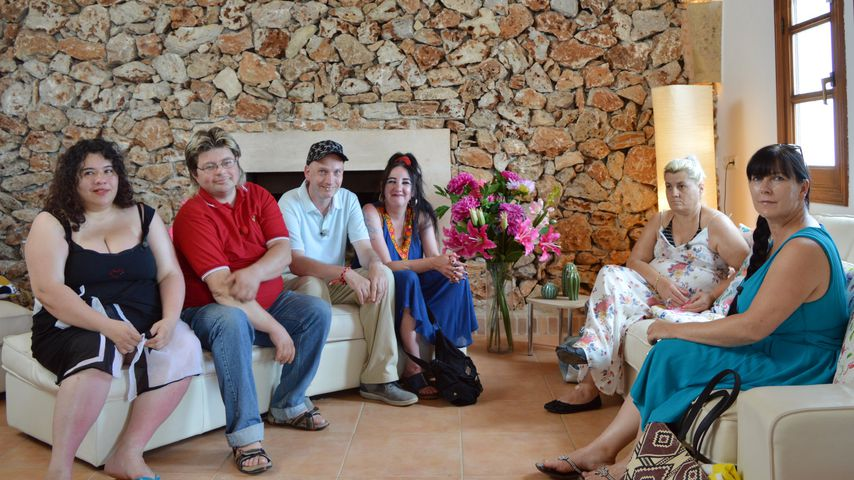 """""""Schwiegertochter gesucht""""-Iset, Marco, Bernd, Brigitte, Ursula und Claudia (v.l.) auf Mallorca"""