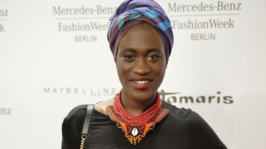Ivy Quainoo bei der Mercedes-Benz Fashion Week 2015