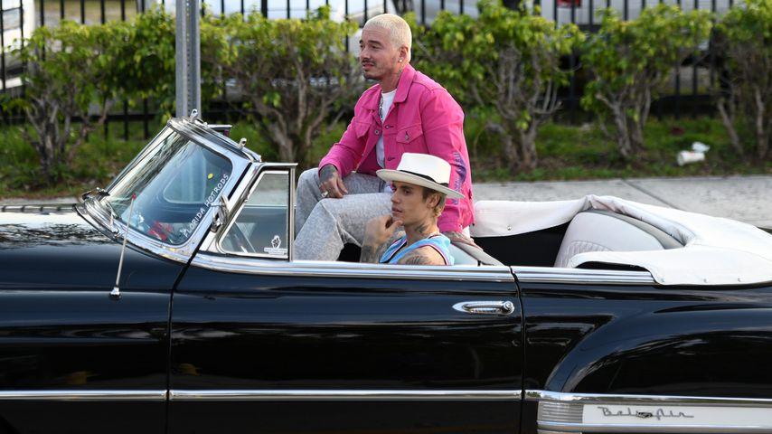 J. Balvin und Justin Bieber in Miami, Februar 2020