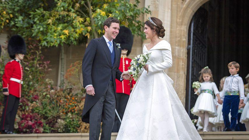 Jack Brooksbank und Prinzessin Eugenie bei ihrer Hochzeit im Oktober 2018