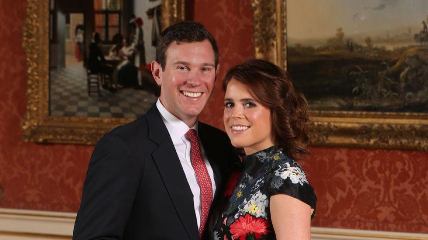 Jack Brooksbank und Prinzessin Eugenie im Buckingham Palast