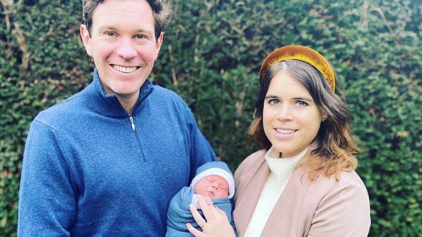 Eugenie und Jack verbringen ersten Urlaub mit Baby August!