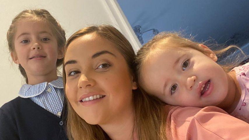Jacqueline Jossa mit ihren beiden Töchtern Ella und Mia