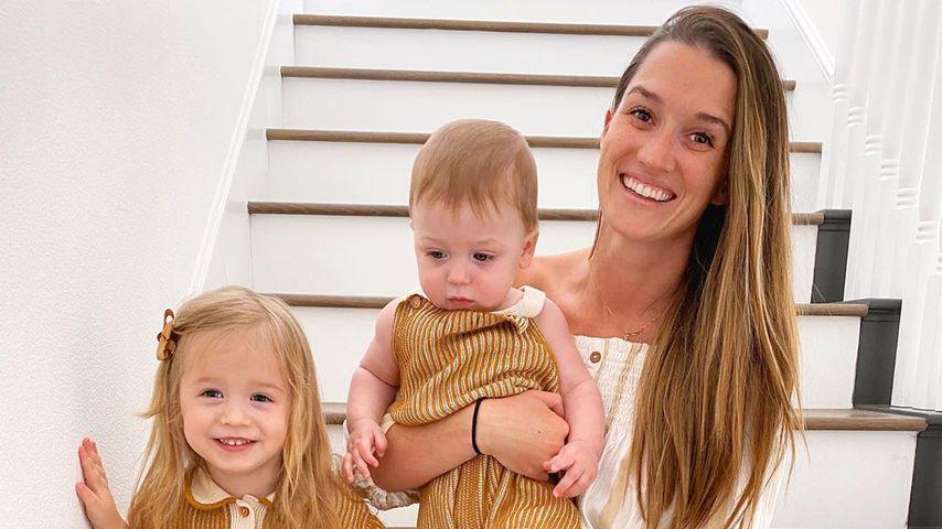 Jade Roper Tolbert mit ihren Kindern Emmy und Brooks, März 2020