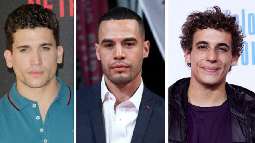 Collage: Die Schauspieler Jaime Lorente, Jesús Mosquera, Miguel Herrán