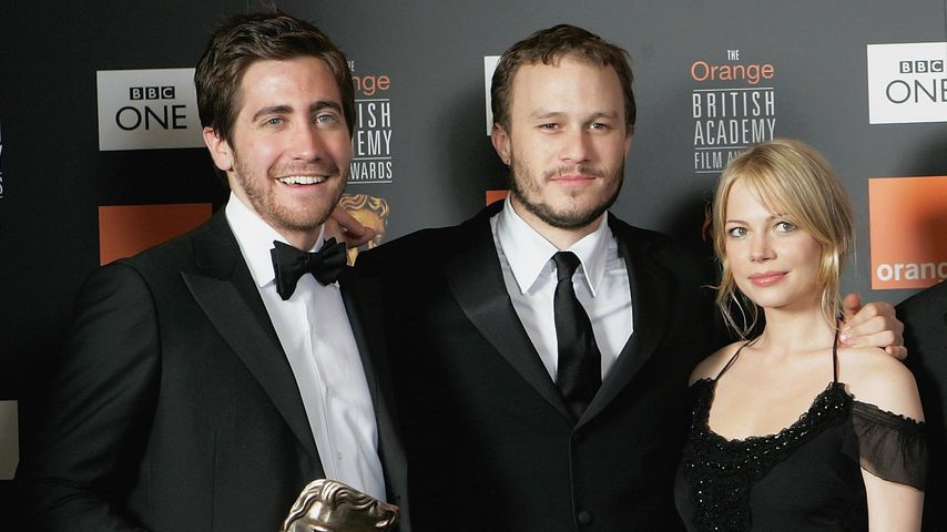 Jake Gyllenhaal, Heath Ledger und Michelle Williams