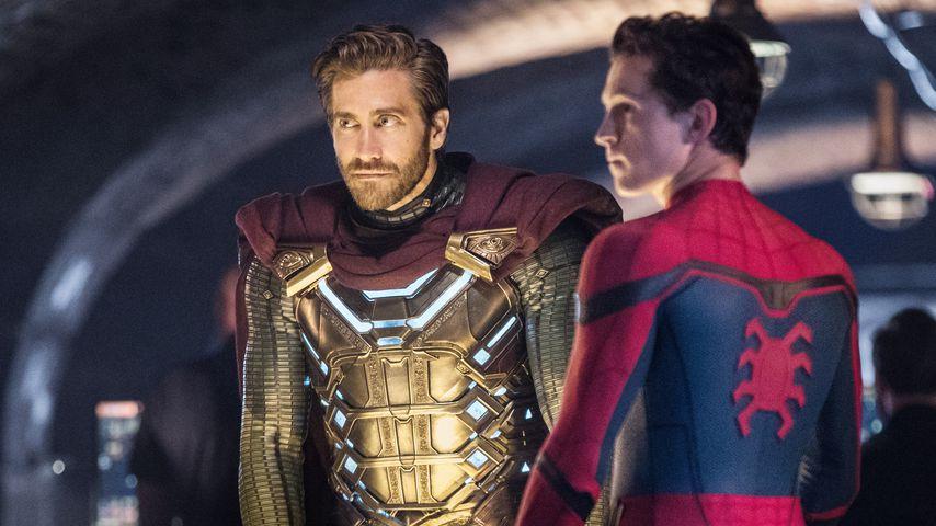 """Jake Gyllenhaal und Tom Holland als Mysterio und Spider-Man in """"Spider-Man: Far From Home"""""""