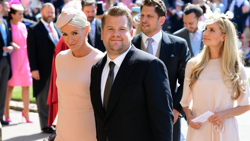 James Corden und Ehefrau Julia Carey (links) in Windsor