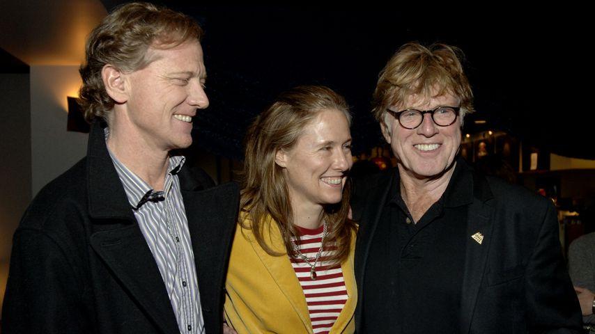 James, Kyle und Robert Redford, März 2009