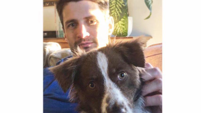 James Lafferty mit Hund Billie