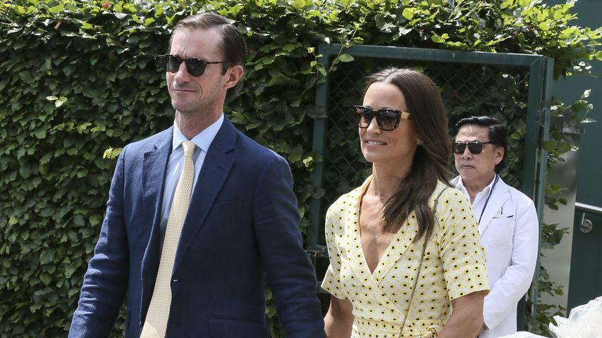 James Matthews und Pippa Middleton im Juli 2019 in Wimbledon
