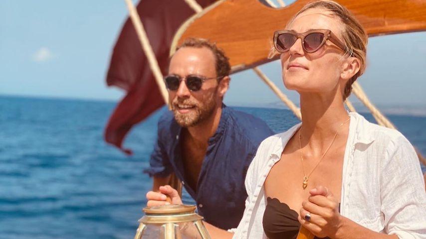 James Middleton und Alizee Thevenet in Italien, Sommer 2020