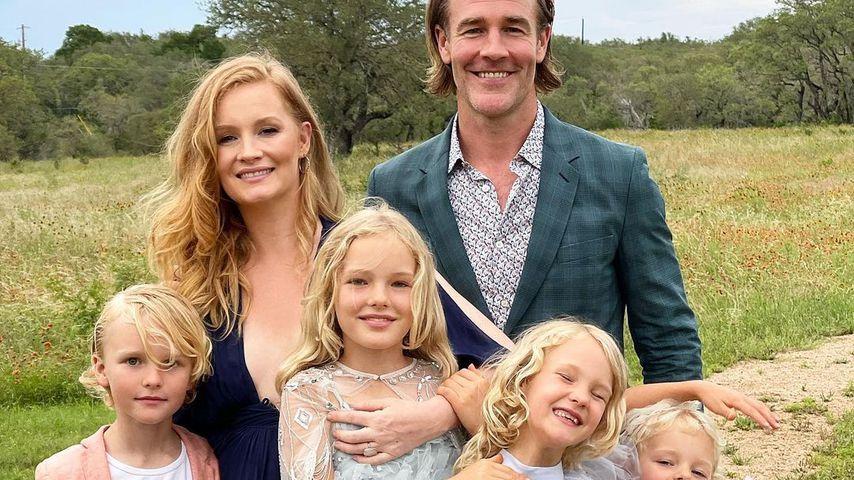 Kimberly und James Van der Beek mit ihren Kindern
