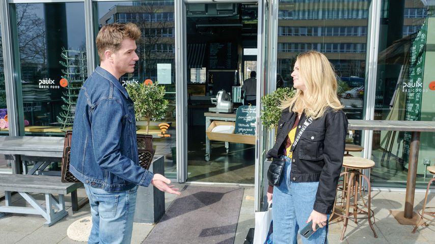 "Jan Ammann und Carina Koller bei ""Unter uns"""