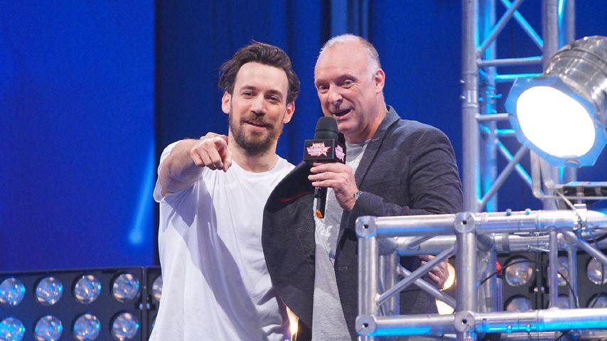 """Jan Köppen (l.) und Frank Buschmann bei """"Ninja Warrior Germany"""""""