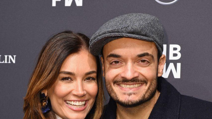 Jana Ina und Giovanni Zarella bei der Fashion Week in Berlin
