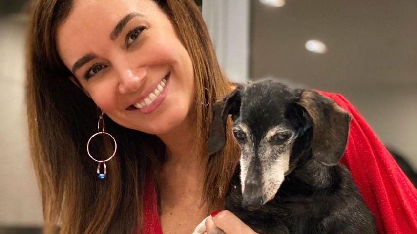 Jana Ina Zarrella mit ihrem Hund Tyson