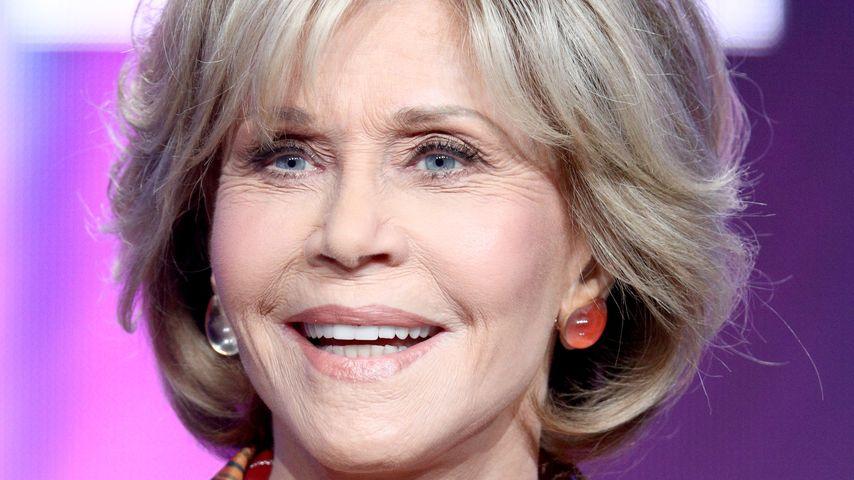 Jane Fonda bei einer Pressekonferenz im Juli 2018