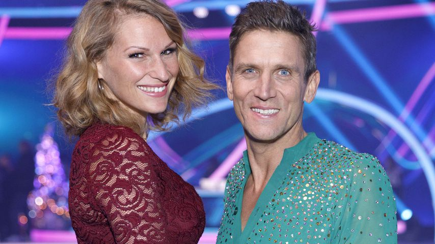 "Janni und Peer Kusmagk bei ""Dancing on Ice"""
