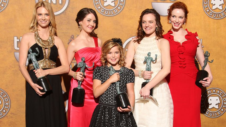 "Die ""Mad Men""-Ladys January Jones, Alison Brie, Kiernan Shipka, Elisabeth Moss & Christina Hendricks"
