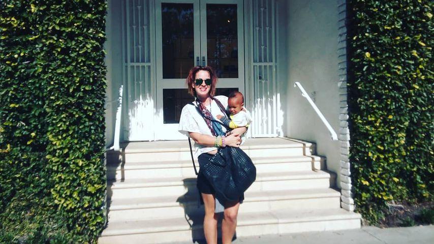 Jasmin Tawil mit ihrem Sohn Ocean, Januar 2020