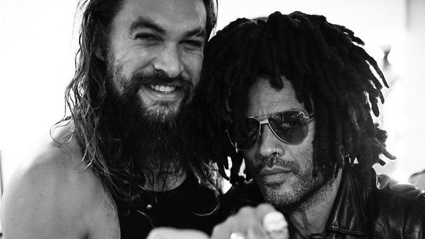 Jason Momoa und Lenny Kravitz