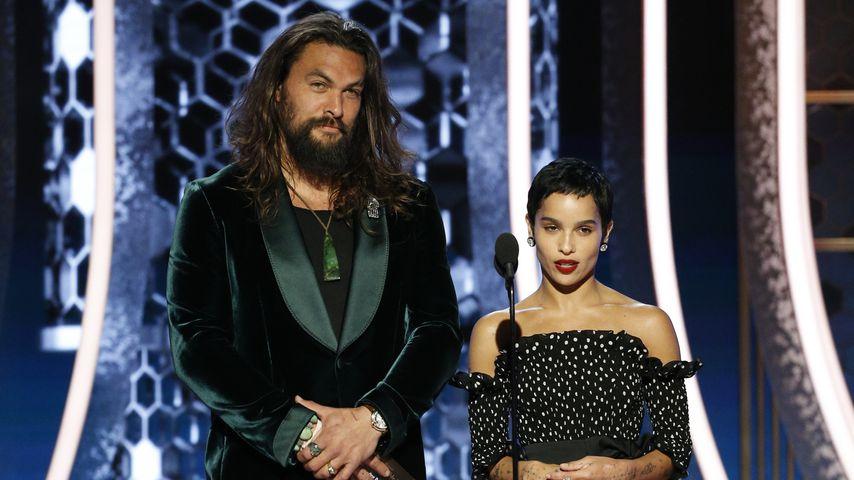 Jason Momoa und Zoe Kravitz bei den Golden Globe Awards 2020