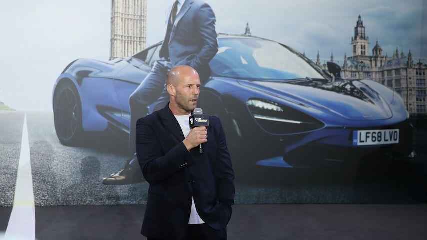 """Jason Statham während einer """"Fast & Furious Presents: Hobbs and Shaw""""-Pressekonferenz"""