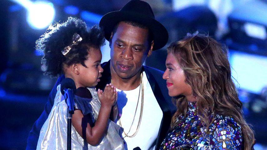 Jay-Z, Beyonce und Blue Ivy Carter auf den MTV Music Awards im Jahr 2014