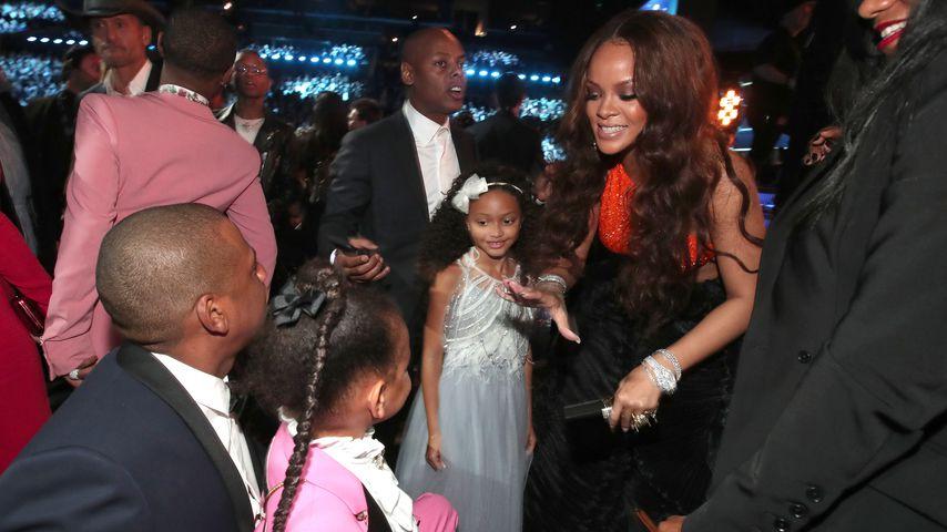 Jay-Z, Blue Ivy Carter, Madison Brown und Rihanna