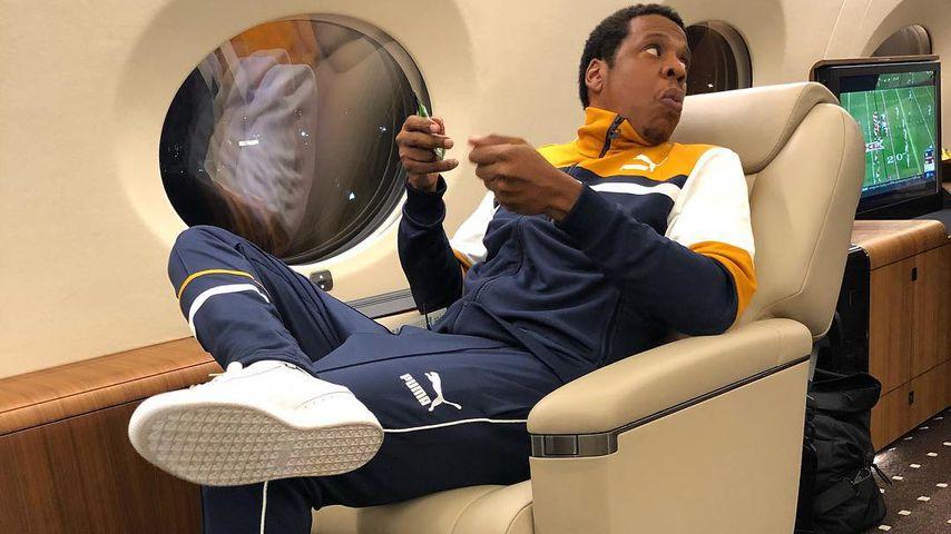 Jay-Z im Privat-Jet