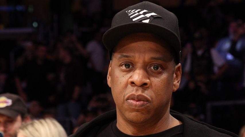 Jay-Z im April 2016 bei einem Basketball-Spiel in Los Angeles
