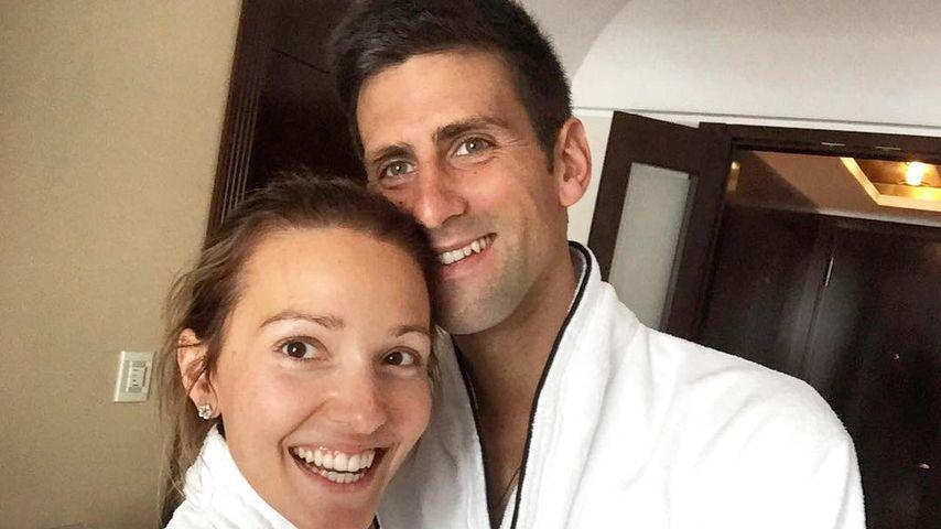 Jelena und Novak Djokovic