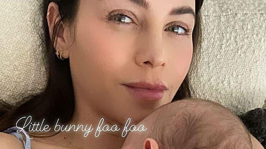 Jenna Dewan und ihr Sohn Callum an Ostern