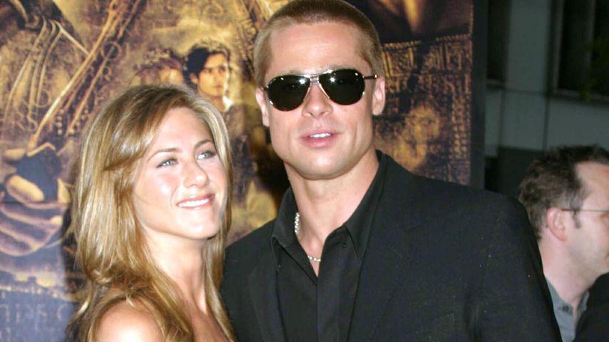 """Jennifer Anniston und Brad Pitt bei der """"Troja""""-Premiere, 2004"""