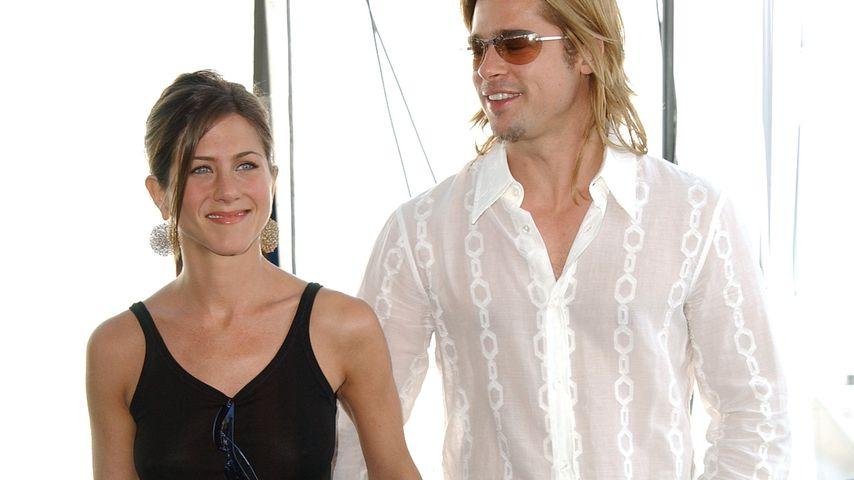 Jennifer Aniston und Brad Pitt in Santa Monica im Jahr 2003