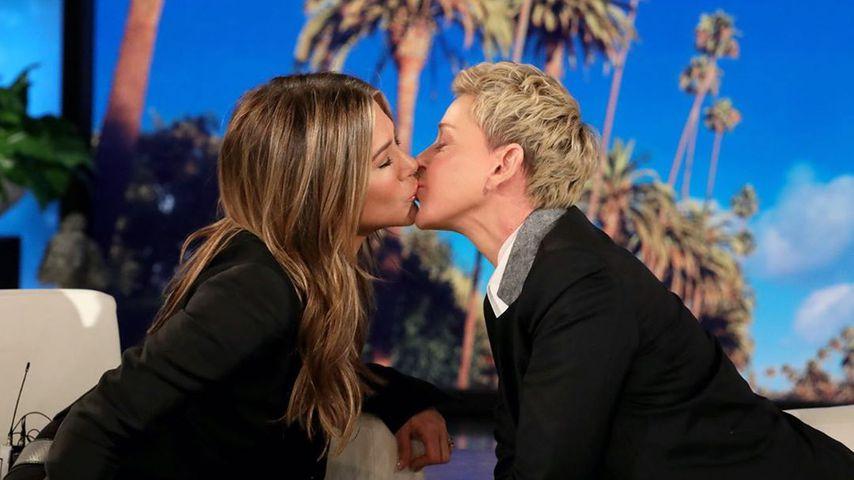 """Jennifer Aniston und Ellen DeGeneres, """"The Ellen Show"""", Oktober 2019"""