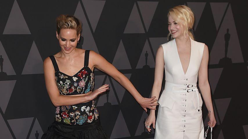 Freundinnen Jennifer Lawrence und Emma Stone, 2017