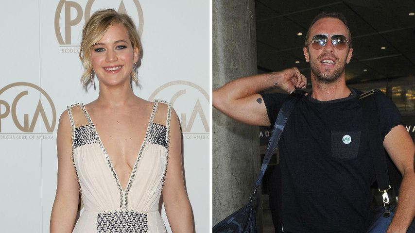 Jen Lawrence & Chris: Liebes-Outing auf 1D-Party