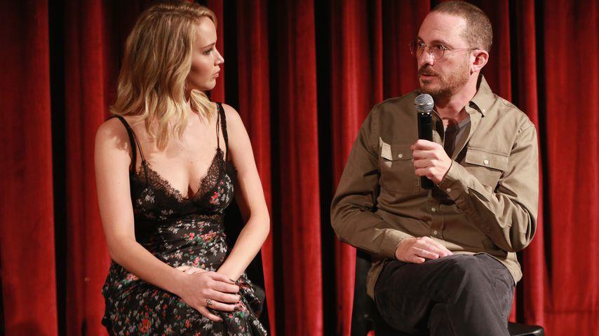 Jennifer Lawrence und Darren Aronofsky gemeinsam auf der Bühne in New York